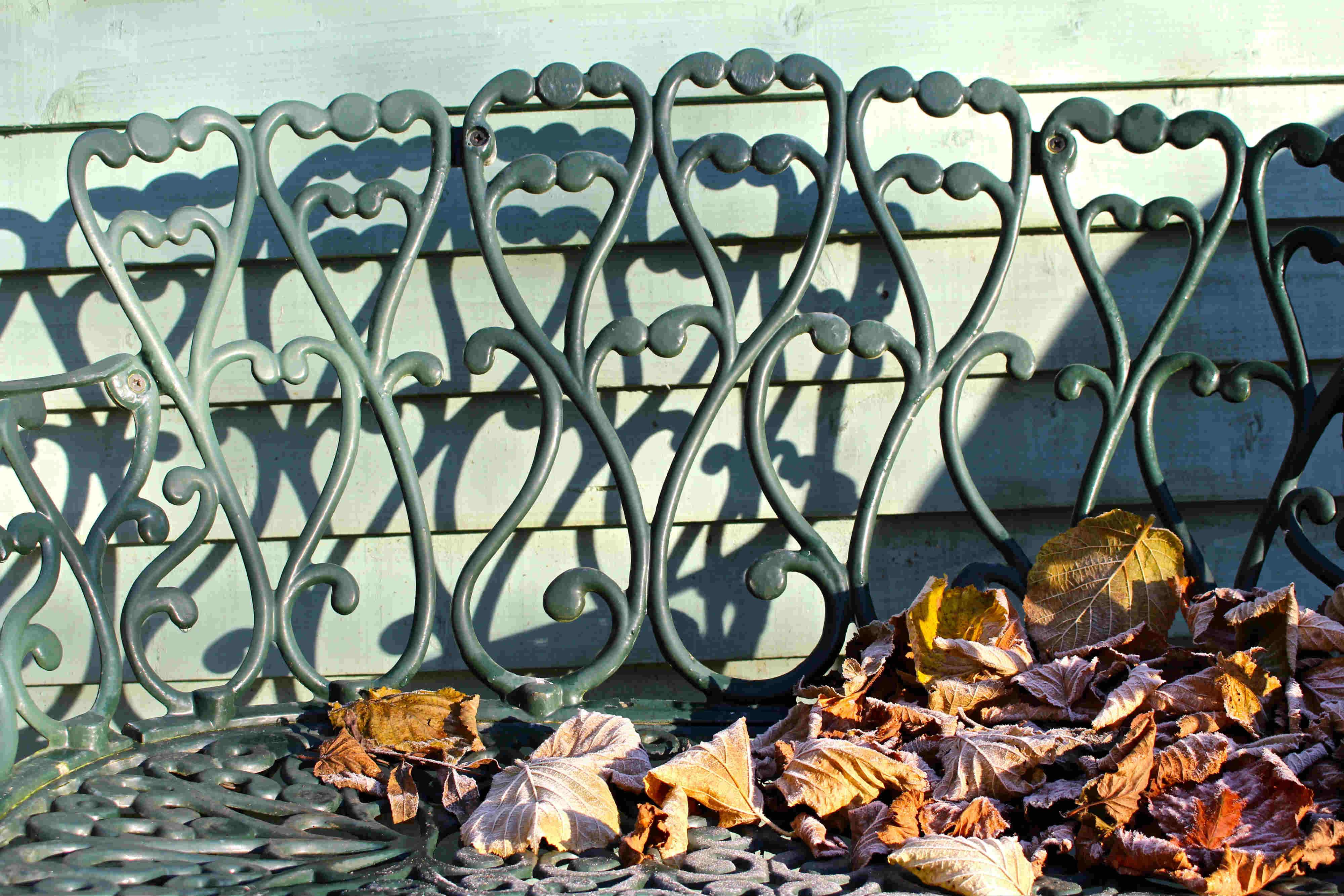 frosty-garden-bench