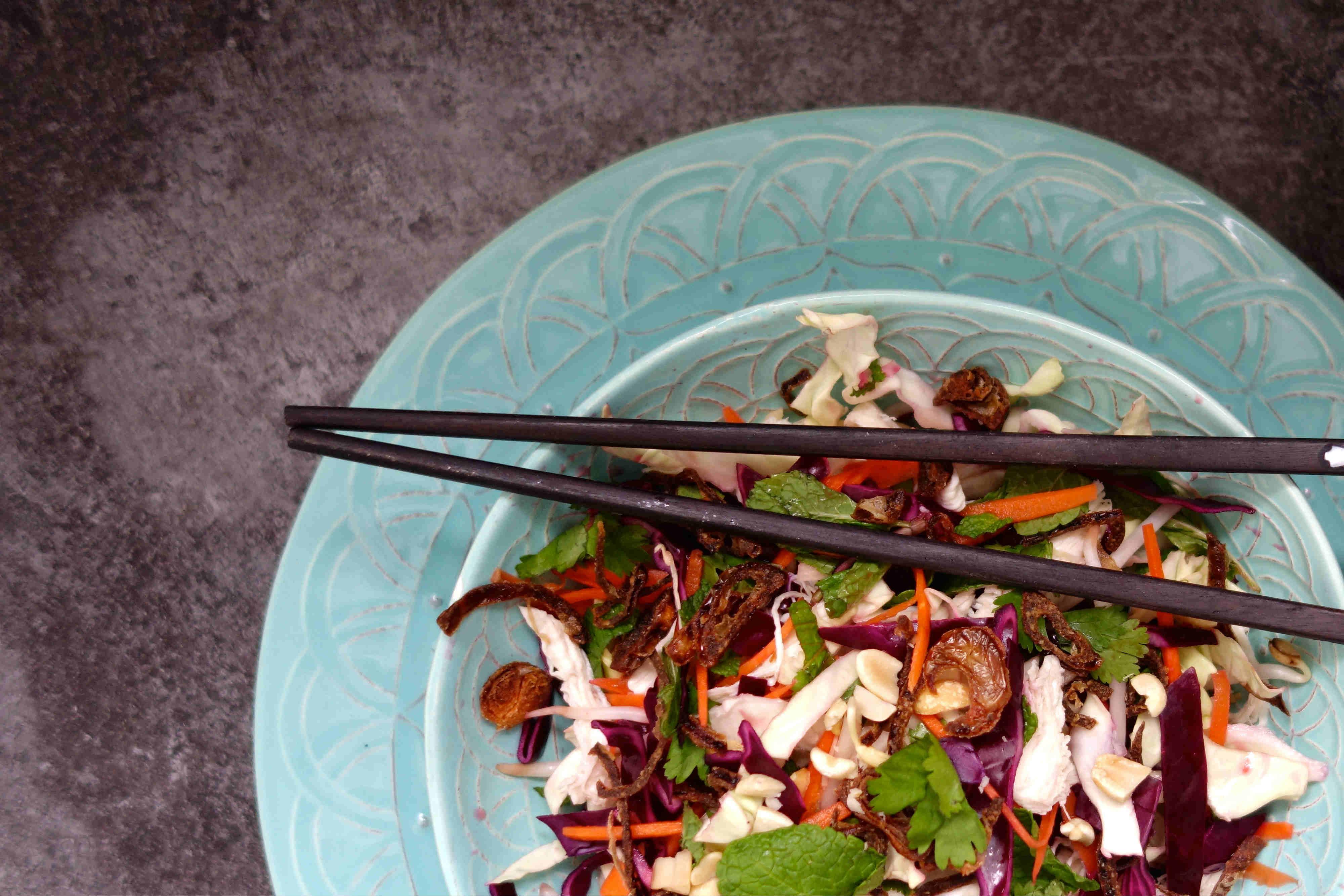 Goi ga, or shredded chicken salad